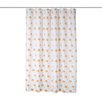 axentia duschvorhang einhorn wei gold hochwertige duschgardine blickdicht 180 x 180 cm. Black Bedroom Furniture Sets. Home Design Ideas