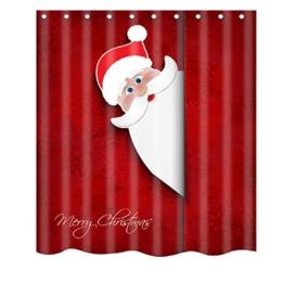 Badezimmer Duschvorhang, Yogogo Weihnachten Wasserdicht Polyester Bad Duschvorhang Dekor mit Haken Neu (D) -
