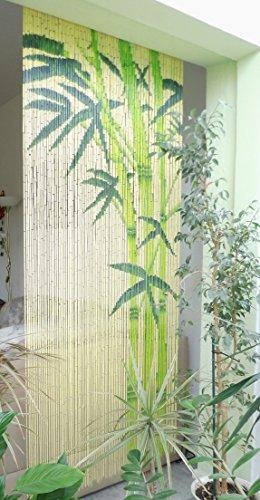 Bambusvorhang Türvorhang Dekovorhang Modell Bamboo 99 Stränge 90cm x 200cm mit Aufhängeleiste -