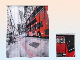 Duschvorhang »London« Kunststoff 180 x 180 cm -