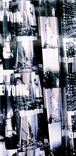 Duschvorhang Textil New York Manhattan inkl Ringe 1,80 m x 2,00 m USA Baduntensilien Bad Zubehör Badezimmer Dekoration -