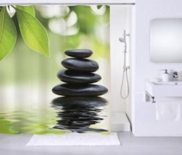 Duschvorhang, viele schöne Duschvorhänge zur Auswahl, hochwertige Qualität, inkl. 12 Ringe, wasserdicht, Anti-Schimmel-Effekt (Harmony, 180 x 180 cm) -
