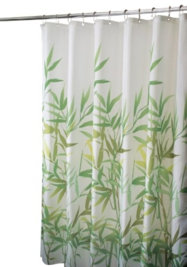 InterDesign Anzu Fabric Shower Curtain, 180 cm x 180 cm - Green -