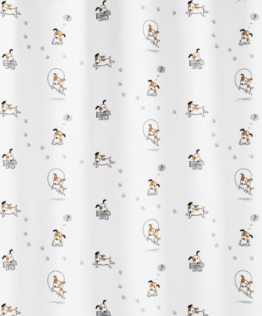 Kleine Wolke 5207148305 Duschvorhang Struppi, 180 x 200 cm, multicolor -