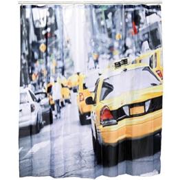 Kunststoff-Duschvorhang, New York - Taxi, ca. 180 x 180 cm -