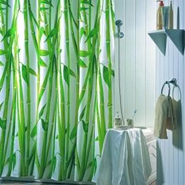 "MSV 180 x 200 cm Bambus "", Polyester-Duschvorhang, bunt -"
