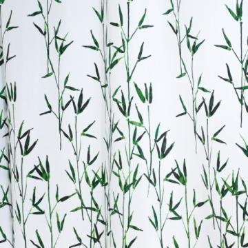 ridder 473050 350 duschvorhang textil ca 180 x 200 cm bambus gr n inklusive ringe. Black Bedroom Furniture Sets. Home Design Ideas