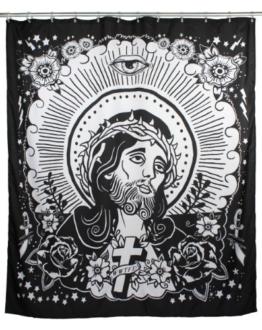 Too Fast Brand Duschvorhang JESUS -