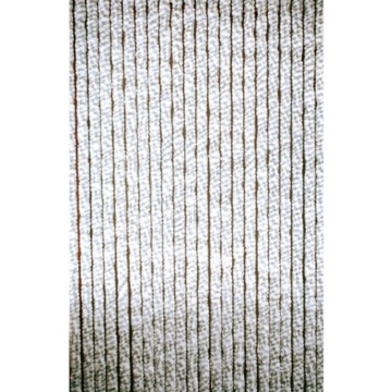 Türvorhang Chenille grau/weiß 90x220cm -