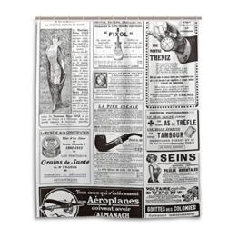 Bad Vorhang für die Dusche 152,4x 182,9cm, Retro Vintage Zeitung, Polyester-Schimmelfest-Badezimmer Vorhang -
