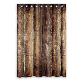 """120 cm x183 cm (48 """"x72"""") Bad Duschvorhang, Holz Muster Charakter-Design Duschvorhang, WC Polyester Vorhänge. - 1"""