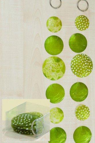 2 Stück Zimmergirlande, Dekogirlande Capiz aus runden Elementen, in grün, sortiert, Länge ca. 180 cm - 1