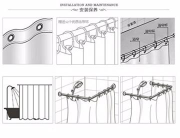 A.Monamour Hellbraun Vertikale Planken Boden Holz Textur Druck Antibakterielle Mehltau Resistent Wasserdicht Stoff Polyester Duschvorhang Für Bad 180X180 Cm / 72X72 Zoll - 3