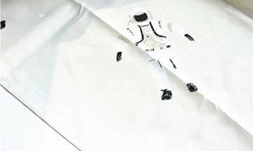 AJZGF Duschvorhang Südkorea Niedlichen Astronaut Bad Vorhang Wasserdichte Verdickung Verhindern Schimmeligen Baumwollsatin Duschvorhang 183 CM X 183 CM (mit Haken) Bad Zubehör - 2