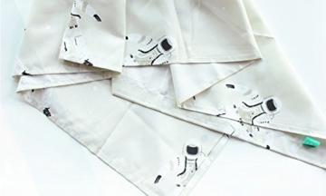 AJZGF Duschvorhang Südkorea Niedlichen Astronaut Bad Vorhang Wasserdichte Verdickung Verhindern Schimmeligen Baumwollsatin Duschvorhang 183 CM X 183 CM (mit Haken) Bad Zubehör - 4