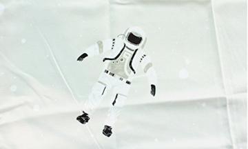 AJZGF Duschvorhang Südkorea Niedlichen Astronaut Bad Vorhang Wasserdichte Verdickung Verhindern Schimmeligen Baumwollsatin Duschvorhang 183 CM X 183 CM (mit Haken) Bad Zubehör - 5