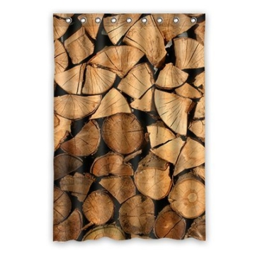 "dalliy Custom Holz Duschvorhang Polyester 120cm x 183cm, Polyester, a, 48"" x 72"" - 1"