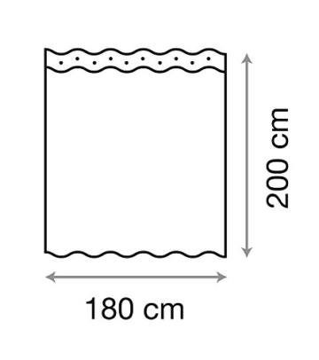 Duschvorhang, viele schöne Duschvorhänge zur Auswahl, hochwertige Qualität, inkl. 12 Ringe, wasserdicht, Anti-Schimmel-Effekt (Home, 180 x 200 cm) - 6