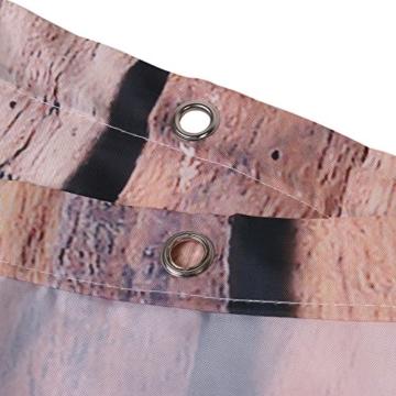 exoticbuy Holz Plank Muster Wasserdicht Duschvorhang mit Haken, Polyester, multi, 180x200cm - 3