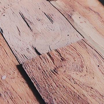 exoticbuy Holz Plank Muster Wasserdicht Duschvorhang mit Haken, Polyester, multi, 180x200cm - 4