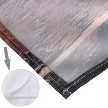exoticbuy Holz Plank Muster Wasserdicht Duschvorhang mit Haken, Polyester, multi, 180x200cm - 8