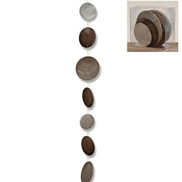 Hänger, Girlande Capiz Country in grau aus Perlmutt, Länge ca. 180 cm - 1