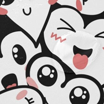 jstel Decor Duschvorhang Herz Emoji-Muster Print 100% Polyester Stoff Vorhang für die Dusche 152,4x 182,9cm für Home Badezimmer Deko Dusche Bad Vorhänge - 4