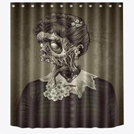 KKY-ENTER Einfache Mode 3D Stereoskopische Horror Kopf Muster Duschvorhänge Wasserdichte Mehltau Polyester Duschvorhänge ( größe : 180*200cm ) - 1