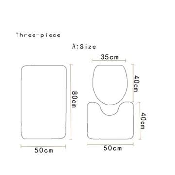 KKY-ENTER Kreative Mode 3D Stereo Lila Kleine Liebe Herz Muster Badezimmer Wasserdicht Duschvorhang Bad Wc Dreiteilige Set Bad Antirutschmatte (Duschvorhang + Bad Matte + Sockel Matte + Wc Sitzbezug Matte) ( größe : A ) - 3