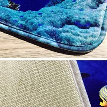 KKY-ENTER Kreative Mode 3D Stereo Lila Kleine Liebe Herz Muster Badezimmer Wasserdicht Duschvorhang Bad Wc Dreiteilige Set Bad Antirutschmatte (Duschvorhang + Bad Matte + Sockel Matte + Wc Sitzbezug Matte) ( größe : A ) - 5