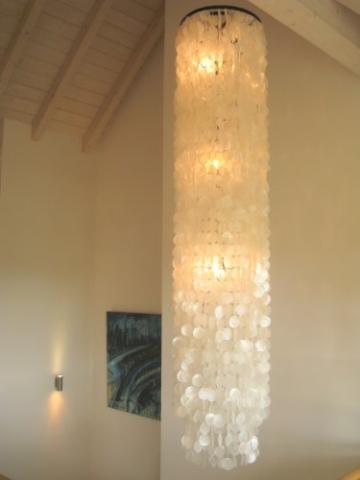 Muschellampe 200 cm hoch, Samoa XXL / Oceanlights Muschellampe - 1