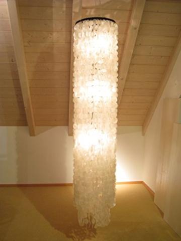 Muschellampe 200 cm hoch, Samoa XXL / Oceanlights Muschellampe - 3