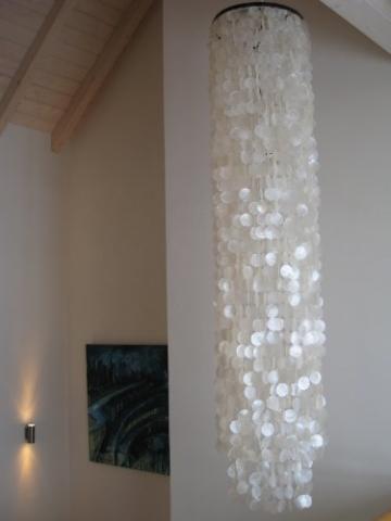Muschellampe 200 cm hoch, Samoa XXL / Oceanlights Muschellampe - 5