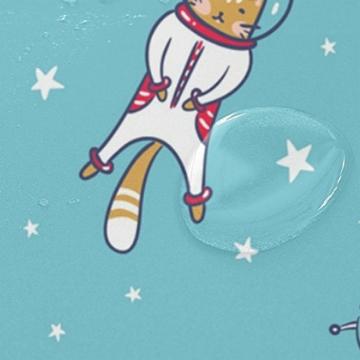 My Daily Astronaut Cat Cartoon Duschvorhang 152,4x 182,9cm, schimmelresistent & Wasserdicht Polyester Dekoration Badezimmer Vorhang - 4