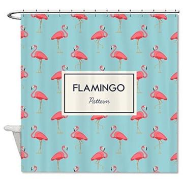 rioengnakg schimmelresistent stoff pink flamingo muster polyester duschvorhang wasserdicht. Black Bedroom Furniture Sets. Home Design Ideas