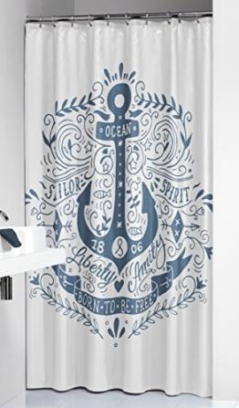 Sealskin 233651324 Duschvorhang Anchor Duschvorhang, Stoff, Blau, 200 x 180 x 0.5 cm - 1