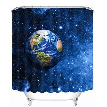 3D Badezimmer Duschvorhang Wasserdicht Blauen Sternen Sternenhimmel ...