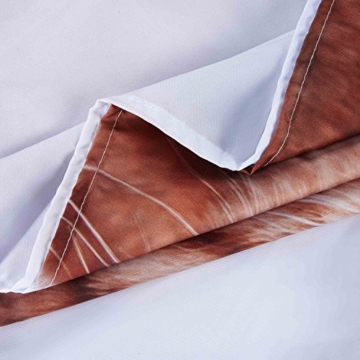 3D Digitaldruck Polyester Duschvorhänge Anti-Schimmel Wasserdicht Mildewproof Badvorhang mit 12 Stück C-Haken für Badzimmer (Katzen) - 4