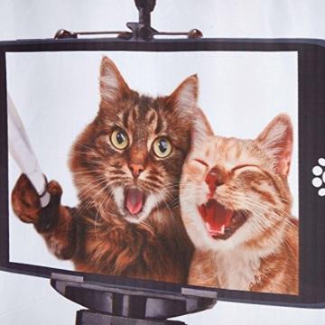 3D Digitaldruck Polyester Duschvorhänge Anti-Schimmel Wasserdicht Mildewproof Badvorhang mit 12 Stück C-Haken für Badzimmer (Katzen) - 7