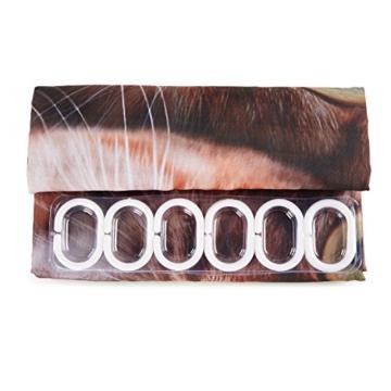 3D Digitaldruck Polyester Duschvorhänge Anti-Schimmel Wasserdicht Mildewproof Badvorhang mit 12 Stück C-Haken für Badzimmer (Katzen) - 9