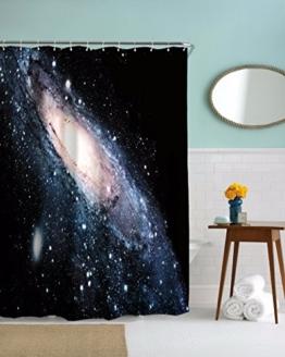 """A.Monamour Galaxie Sterne Im Weltraum Universum Milchstraße Orbit Druck Wasserdicht Mehltau Resistent Stoff Duschvorhang Für Bad Dekorationen 150X180 Cm / 60 """"X72"""" - 1"""