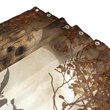 Bad Vorhang für die Dusche 152,4 x 182,9 cm Gothic Totenkopf Grabstein Dark Bat Wolken Nacht Art Polyester-Schimmelfest-Badezimmer Vorhang - 3