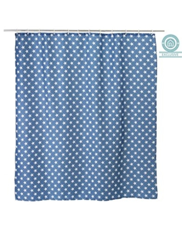 Blau Duschvorhänge mit Sternen (180×200 cm) -