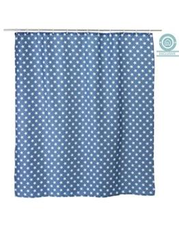 Blau Duschvorhänge mit Sternen (180x200 cm) - 1