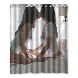Dalliy Brauch Sexy Girl Frau Wasserdicht Polyester Shower Curtain Duschvorhang 152cm x 183cm - 1