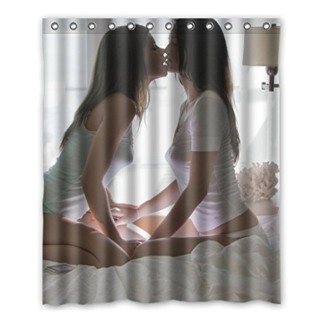 Dalliy Brauch Sexy Girl Frau Wasserdicht Polyester Shower Curtain