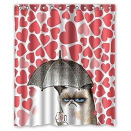 Dream Außerhalb Funny Katzen Duschvorhang mit Design 152,4cm (W) X 182,9cm (H) Wasserdicht Mehltau Stoff - 1