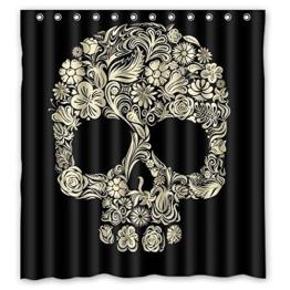 Dream Außerhalb Totenkopf Cool Personalisierte Design Custom Wasserdicht Duschvorhang aus Stoff, 167,6cm (W) X 182,9cm (H) - 1