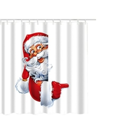 Duschvorhang, xinxinyu Weihnachten Duschvorhang, Home Decor Wasserdicht Badezimmer Duschvorhang mit Haken L - 1