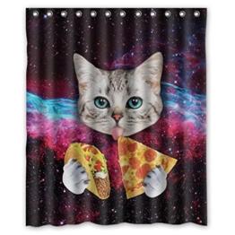 HARRYSTORE Nettes Katzen-Muster-wasserdichter Duschvorhang, der im Badezimmer verwendet - 1